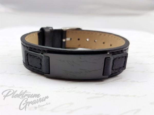 Echtleder - Armband Small Black - Black-Copy