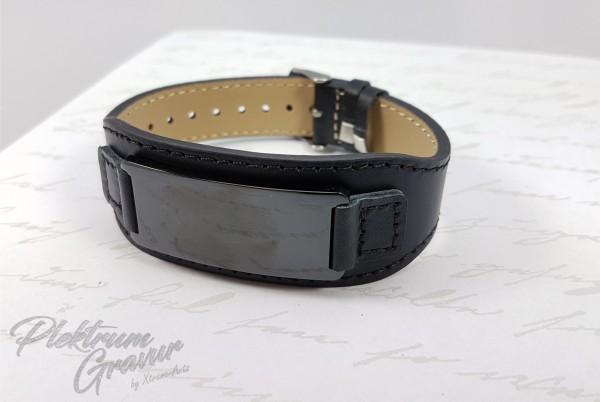 Echtleder - Armband Black - Black