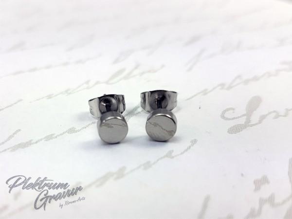 Ohrring Rund 5 mm mit Initalen Gravur