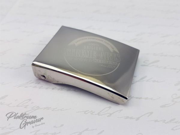 Koppelschloss Silber mit Logo- / Textgravur