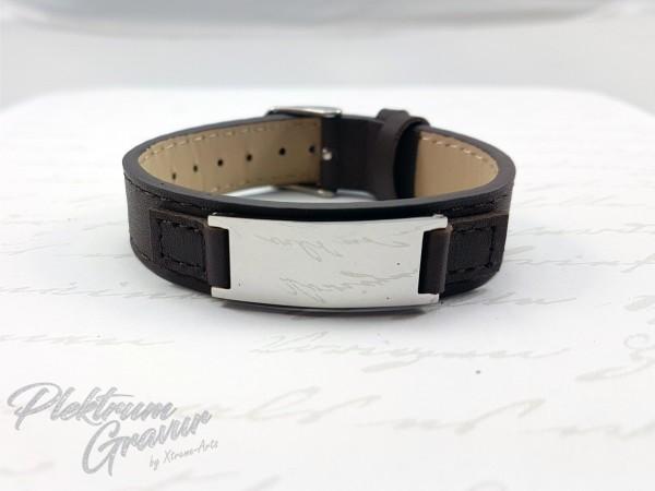 Echtleder - Armband Small Brown poliert