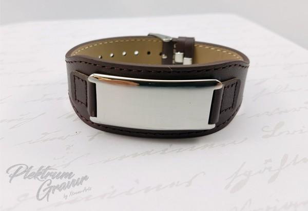Echtleder - Armband Brown gebürstet