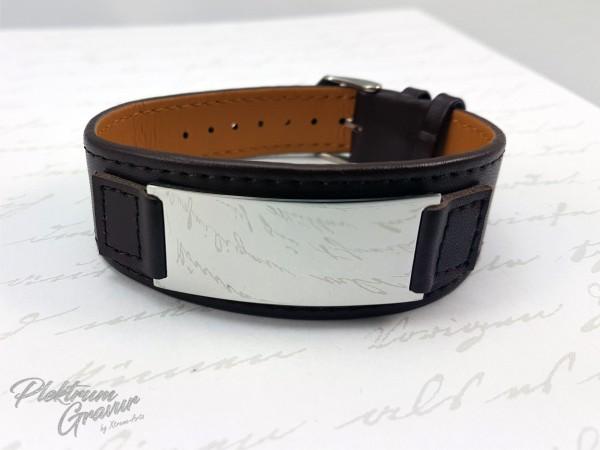 Echtleder - Armband Brown poliert