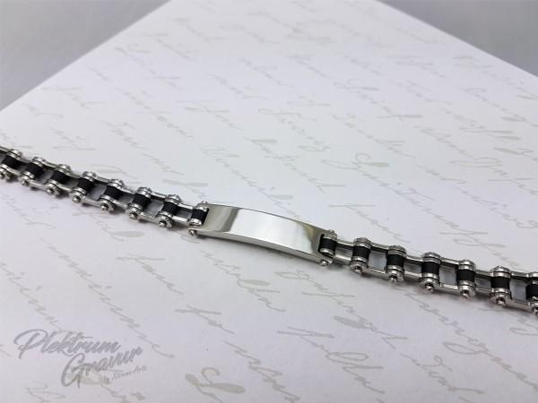 """Edelstahlarmband """"Chain"""" inkl. Gravur"""
