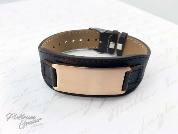 Echtleder - Armband Brown / Rose