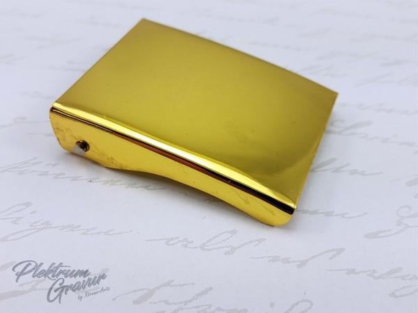 Koppelschloss Gold mit Logo- / Textgravur
